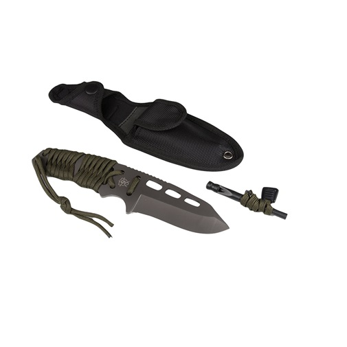 "Click here to buy 5Ive Star Gear 5656000 Survival Paracord Fixed Knife 3.625"" Blade OD Green by 5Ive Star Gear."