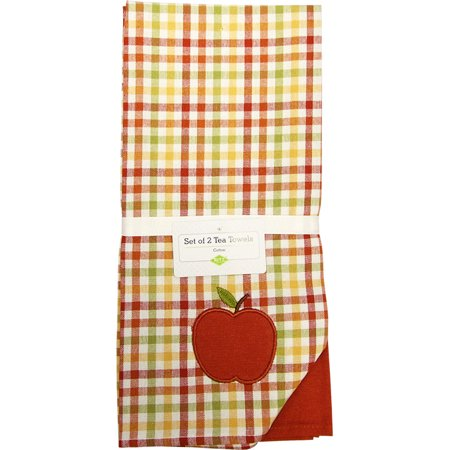 Ritz 2PC Printed Dual Kitchen Towel Set 18X28 AUTUMN BOUQUET GIVE THANKS (Rose Bouquet Tea Set)