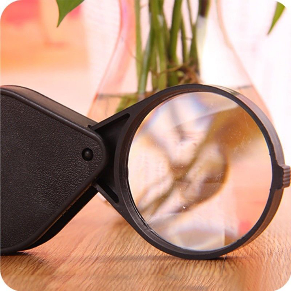 Girl12Queen Folding 10x Mini Pocket Jewelry Magnifier Reading Magnifying Loupe Glass Lens