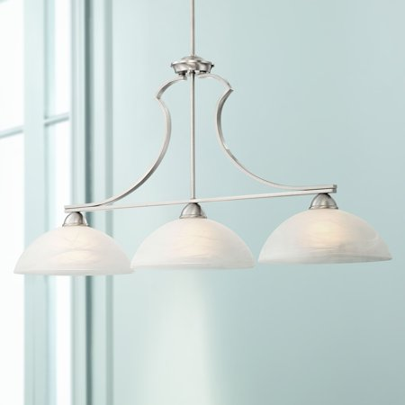 Possini Euro Design Milbury Collection Satin Nickel 3 Light Island