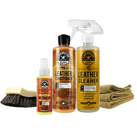 Chemical Guys HOL329 Pro Leather Care Kit (7 Items)