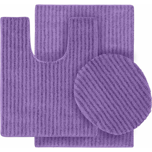 Sheridan Nylon 3-Piece Washable Bathroom Rug Set