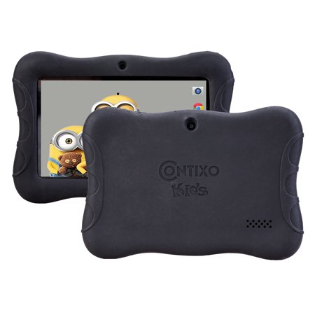 Contixo Defender Series Silicone 7 inch Android Tablet Cover Case (Black)
