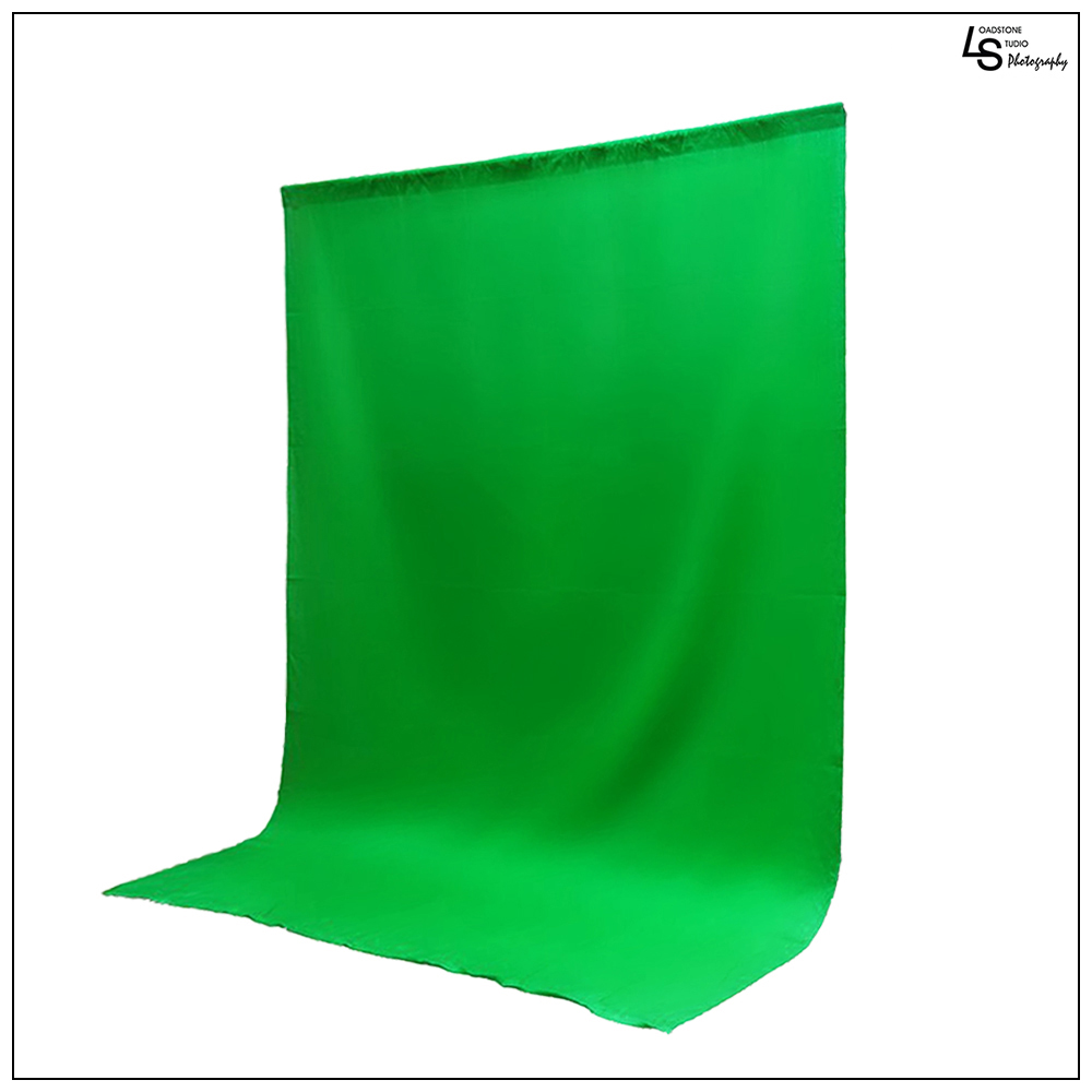 6x9' ft. Chroma Key Green Screen Seamless Muslin Fabric Cloth Backdrop for Photography and Video by Loadstone Studio WMLS0364