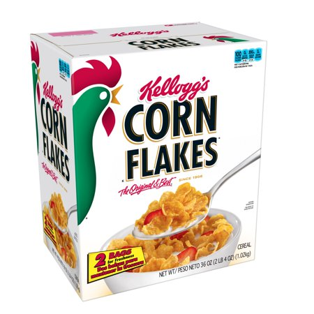 - Kellogg's Corn Flakes Breakfast Cereal, Original, 36 Oz