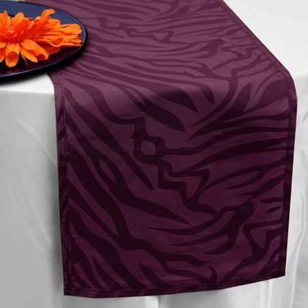 BalsaCircle 12'' x 108'' Safari Animal Print Zebra Table Top Runner - Wedding Party Reception Linens Dinner Event