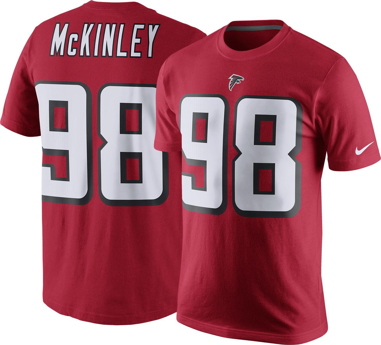 Nike Men's Atlanta Falcons Takkarist McKinley #98 Pride Red T-Shirt