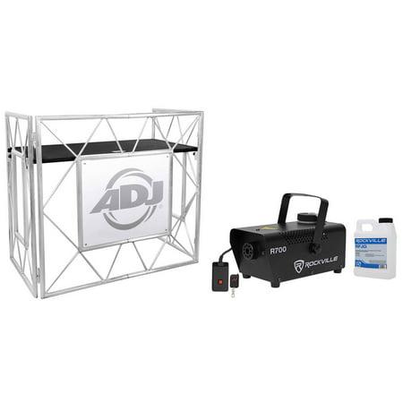 American DJ Pro Event Table II Foldable Portable DJ Booth Truss Facade + Fogger