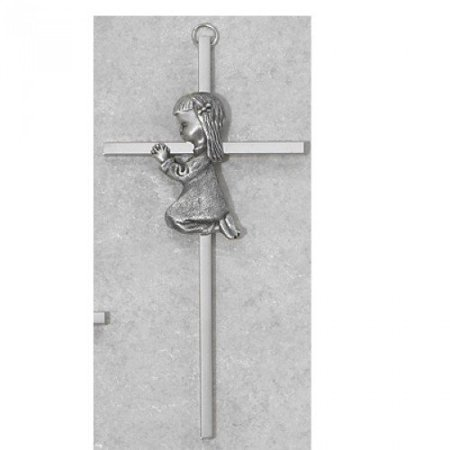 Religious Praying Girl Baptism Wall Cross for Babies, 6 Inch - image 1 of 1