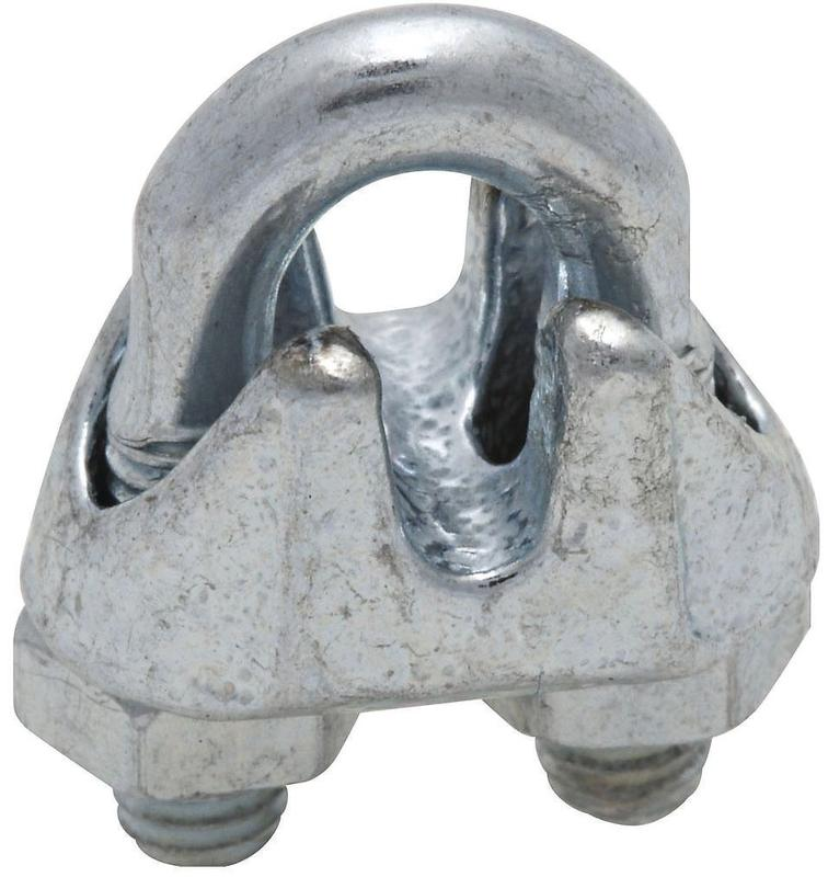 National Hardware N248-260 0.06 in. Zinc Plated Wire Cable Clamp