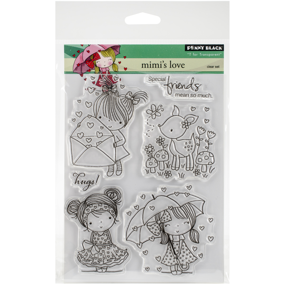 Penny Black Clear Stamps-Mimi's Love