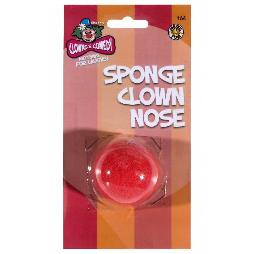 Red Clown Nose Adult Costume Accessory
