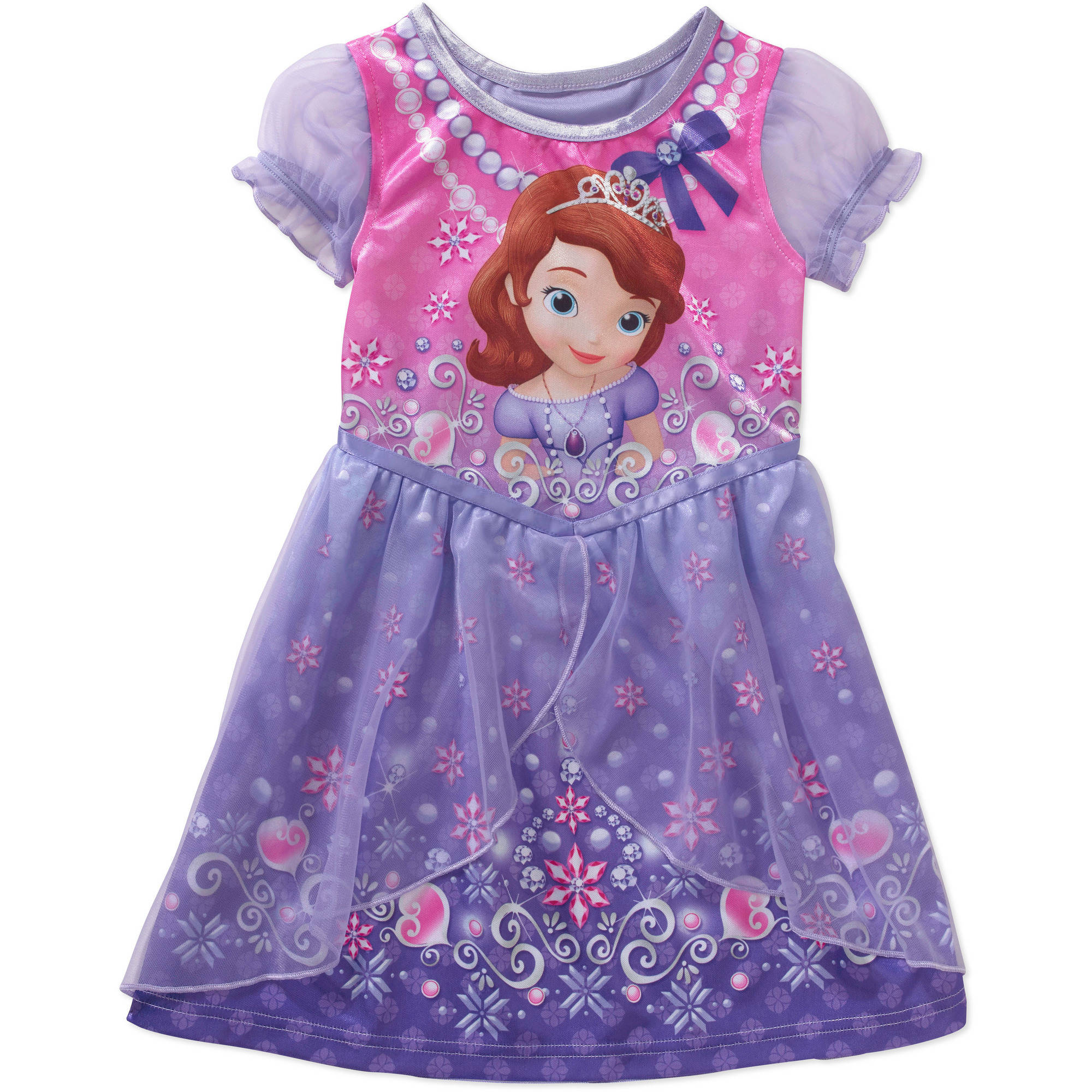 Disney Sofia the First Baby Toddler Girl Short Sleeve Fantasy Nightgown