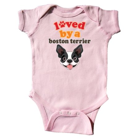 Boston Terrier Dog Gift Infant Creeper