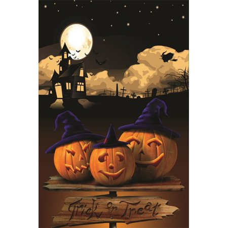 HelloDecor Polyester 5x7ft Photography Studio Backdrops Girl Toddler Photo Shoot Background Halloween Grimace Pumpkin Scary Bat House Trick or Treat Gloomy - Halloween Photo Shoot Tips