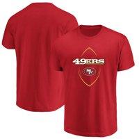 Product Image San Francisco 49ers Majestic Maximized Crew Neck T-Shirt -  Scarlet cf1f6945f