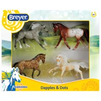 Breyer Stablemates Dapples & Dots Horse Toy Set (1:32 Scale)