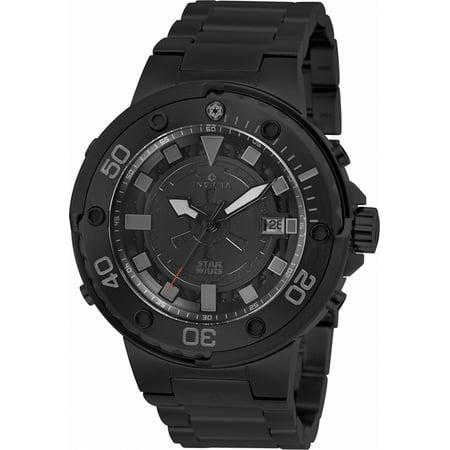 Mens Star Wars Watch (Men's Star Wars Automatic 100m Black Stainless Steel Watch)