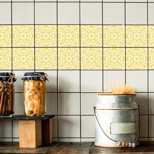 Stick Pretty Retile Retro Daisies Wall Decal (Set of 10)