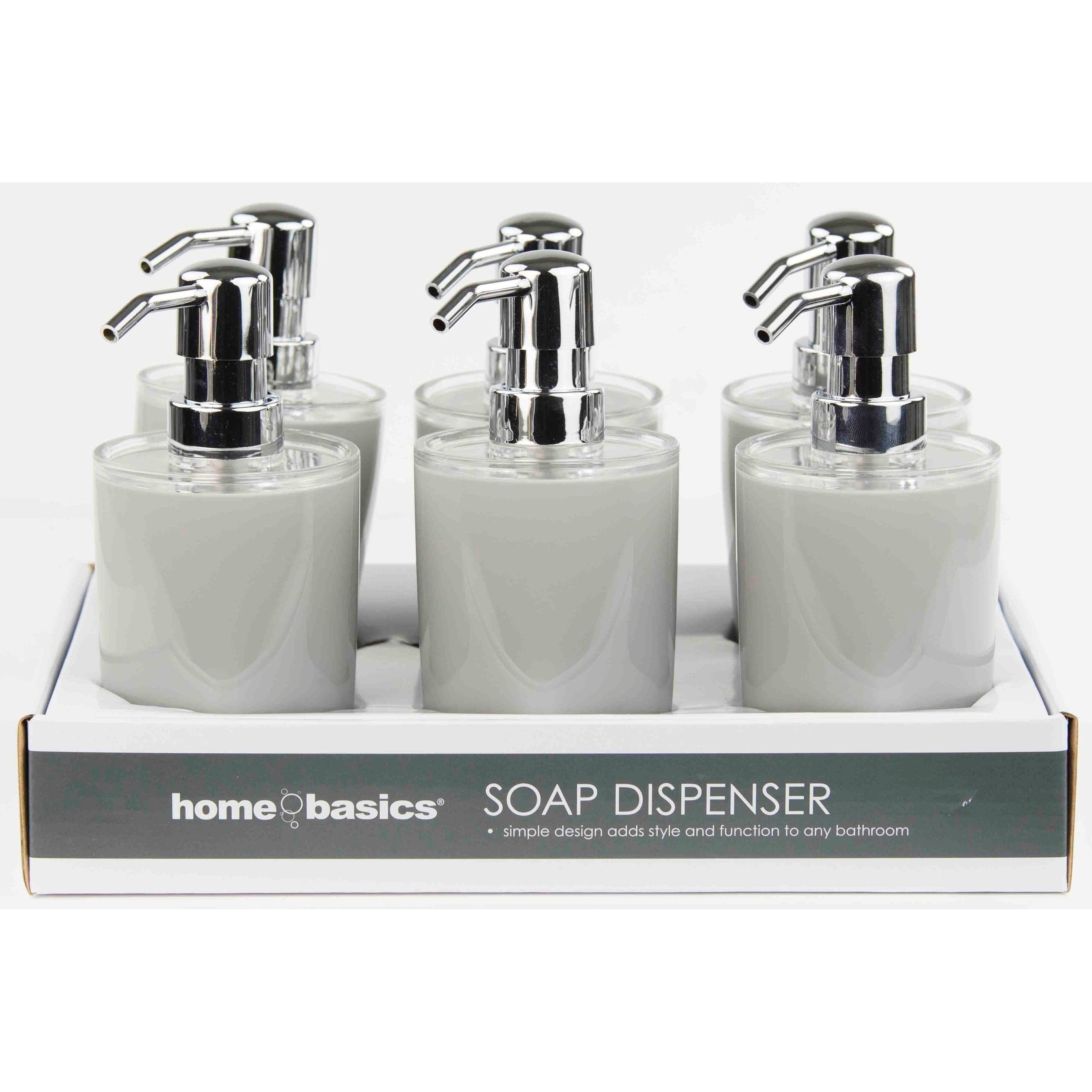 Home Basics  Grey Soap Dispenser