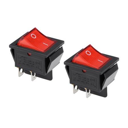 Boat Rocker Switch Red LED Light DC 12/24V Toggle Switch for Boat Car Marine ON/OFF AC 250V/16A  125V/20A,