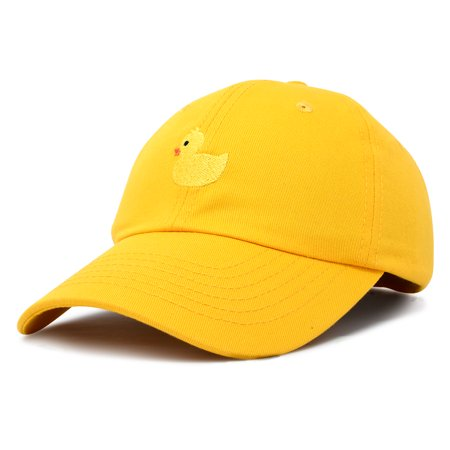 DALIX - DALIX Cute Ducky Soft Baseball Cap Dad Hat in Gold ... 0642d74bac8