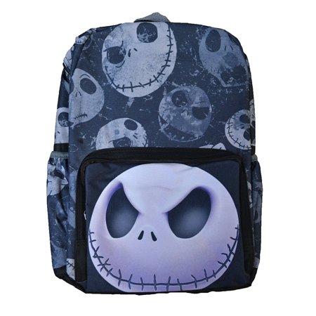 Jack Skellington Front Big Face Printed All Over Children's Backpack 16 - Jack Skellington Backpack