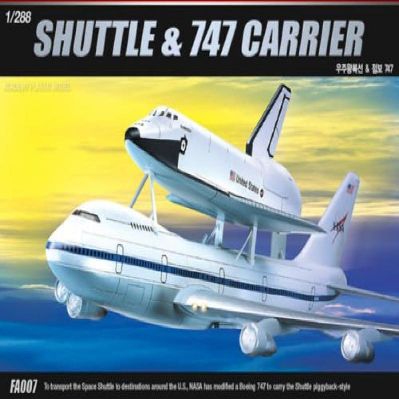 Academy 1/288 Space Shuttle & 747 Carrier Plastic Model Kit #12708