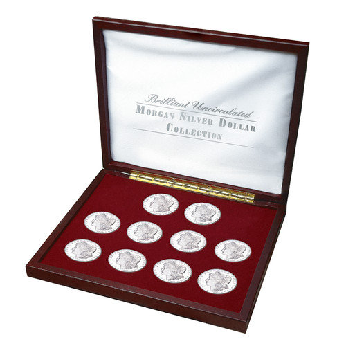 American Coin Treasures Brilliant Uncirculated Morgan Silver Dollar Collection Display Box