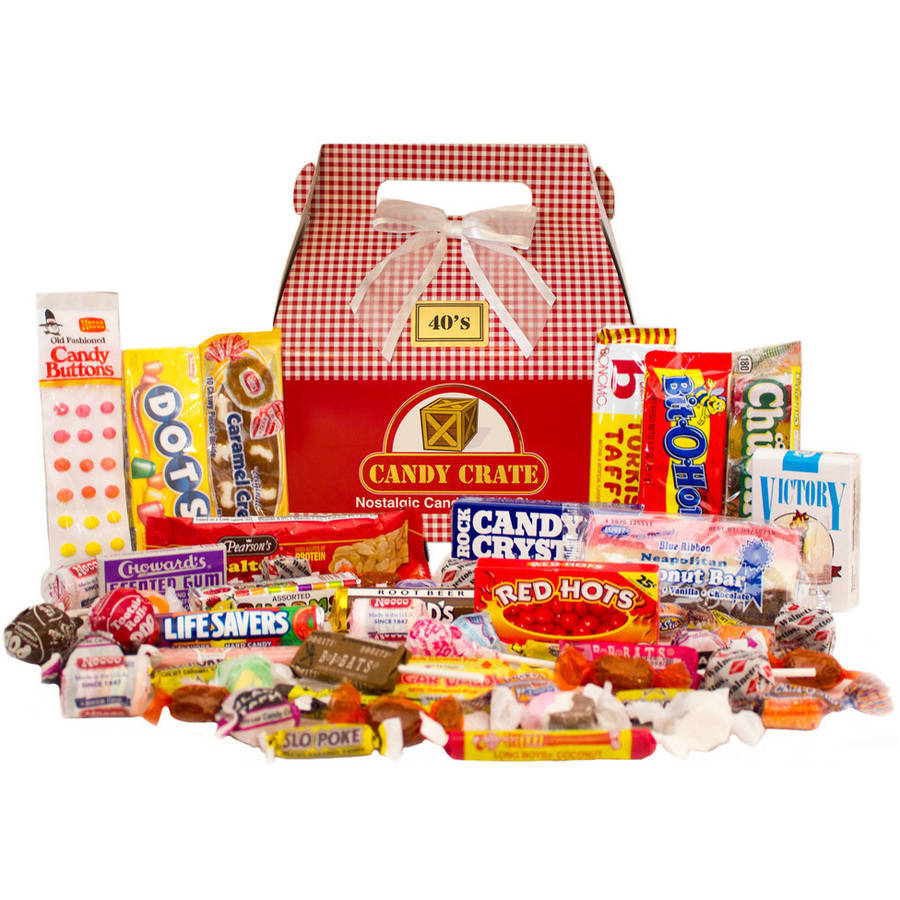 Candy Crate Holiday 1940s Retro Candy Gift Box