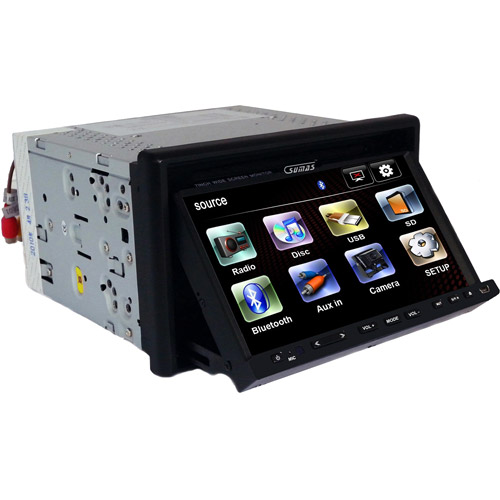 "SUMAS MEDIA 7"" Double Din Car Movie Player with BT"