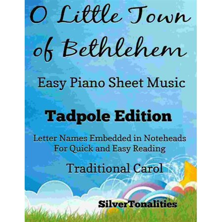 O Little Town of Bethlehem Easy Piano Sheet Music Tadpole Edition - eBook](Halloween Town Sheet Music)