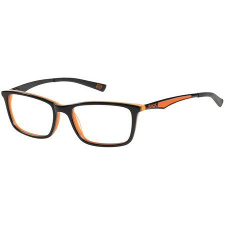 SKECHERS Boy's Eyeglass Frames Black on Orange