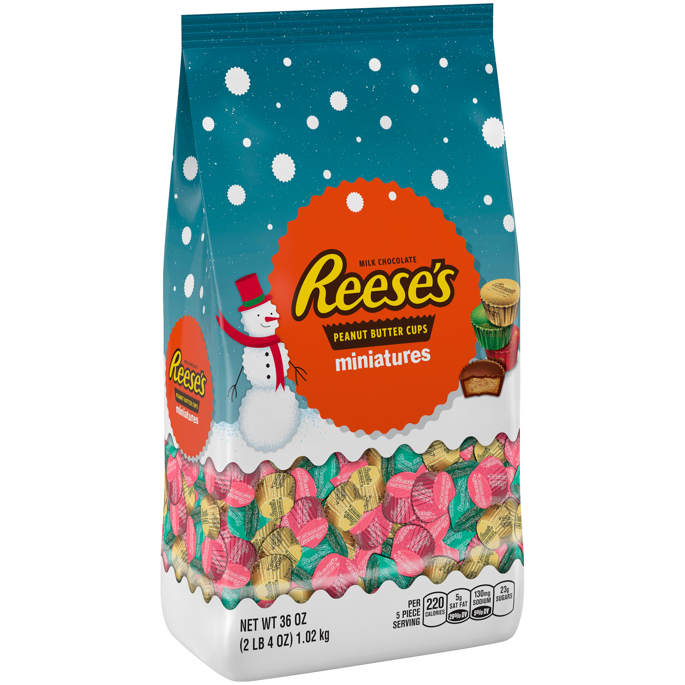 REESE'S Holiday Peanut Butter Cups Miniatures, 36 oz