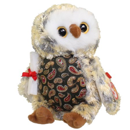 TY Beanie Baby - SMARTY the Graduation Owl (w/Green Chest & No Hat version) (6.5 inch)](Beanie Baby Halloween Owl)