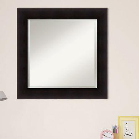 Red Barrel Studio Flat Espresso Frame Square Accent Wall Mirror ...