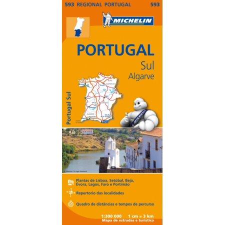 Portugal Face (Portugal Sul Algarve Regional Map 593 (Michelin Regional Maps) (Map))