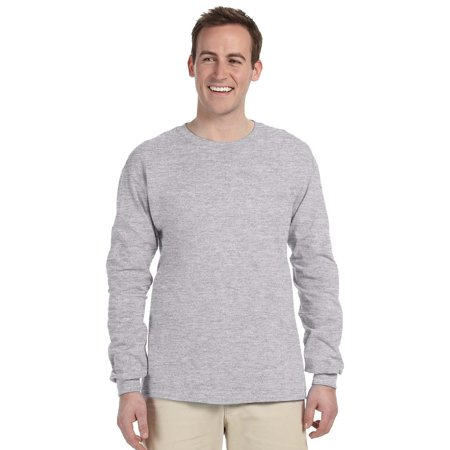 79432c7ca68 Gildan - G240 Ultra Cotton Long-Sleeve T-Shirt -Sport Grey-Medium -  Walmart.com