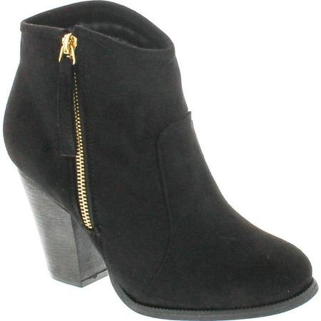 c7aab3d788e7 Liliana Romane-1 Women s Chunky Heel Riding Ankle Booties - Walmart.com