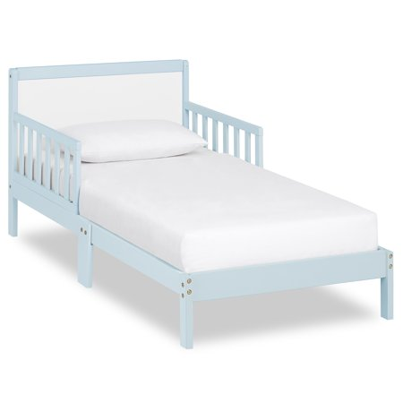 Dream on Me Brookside Toddler Bed Sky Blue White