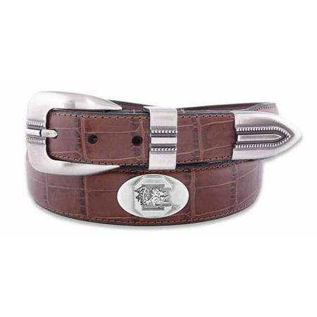 South Carolina Leather (South Carolina Concho Crocodile Tan Leather)