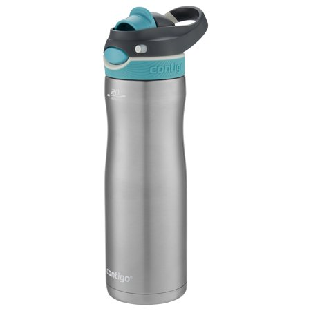 Contigo Autospout Chug 20 Ounce Stainless Steel Scuba Lid Chill Water Bottle