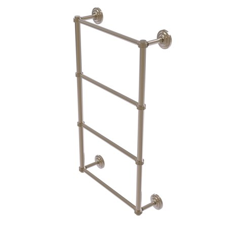 Que New Collection 4 Tier 30 Inch Ladder Towel Bar with Dotted Detail
