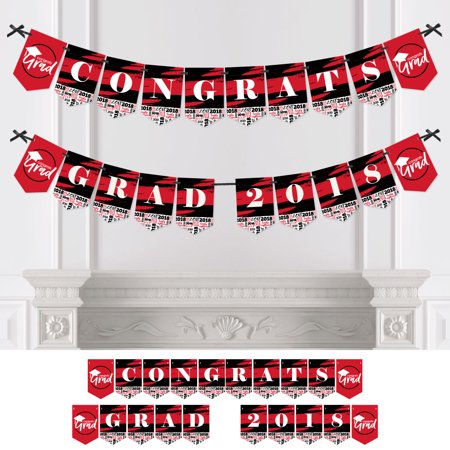 Red Grad - Best is Yet to Come - Red Graduation Party Bunting Banner - Grad Party Decorations - 2018 Red Graduation