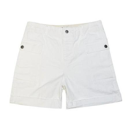 Ralph Lauren Flat Front Shorts - Rugby Ralph Lauren Women High-Rise Cargo Shorts (2, Off white)