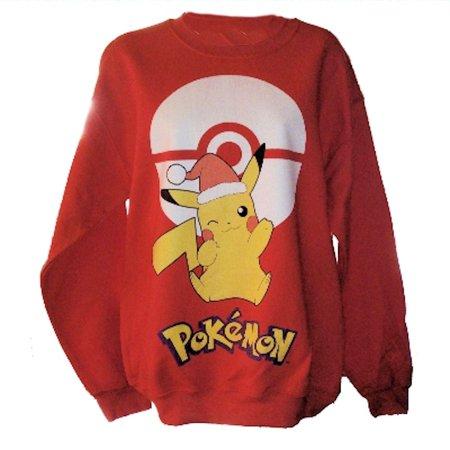 pokemon pikachu mens red christmas sweatshirt large](Chewbacca Sweatshirt)