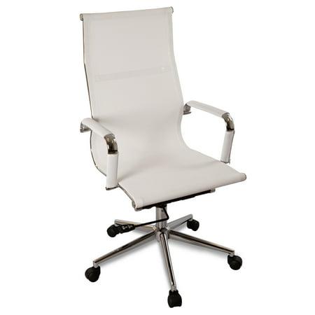 Bodymade Modern Mesh Office Chair   High Back  White