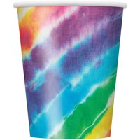9oz Paper Rainbow Tie Dye Cups, 8ct