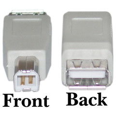 USB A to B Adapter, Type A Female to Type B Male