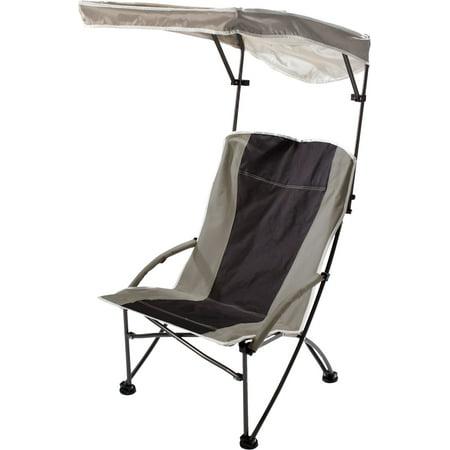 Pro Comfort High Back Shade Folding Chair - Tan/Black